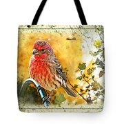 Male Housefinch Photoart Tote Bag