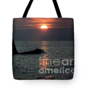 Male Orca At Sunset Off San Juan Island Washington 1986 Tote Bag