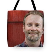 Male Smiling Tote Bag