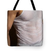 Male Wet Tank Top Tote Bag