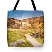 Malham Cove In Malhamdale Tote Bag