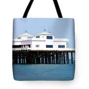 Malibu Pier On A California Blue Sky Day Tote Bag