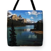 Maligne Lake Beauty Of The Canadian Rocky Mountains Tote Bag