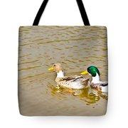 Mallard Ducks Pair Tote Bag