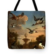 Mallard Golden Eagle Wild Fowl In Flight Tote Bag