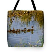 Mallard Hen And Ducklings Tote Bag