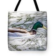 Mallard In Froth Tote Bag