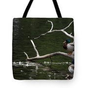 Mallard Standing Post Tote Bag