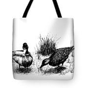 Mallards In The Marsh Tote Bag