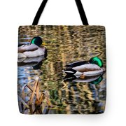 Mallards In The Reeds Tote Bag