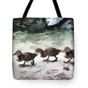 Mama Duckies And Her Babies Tote Bag