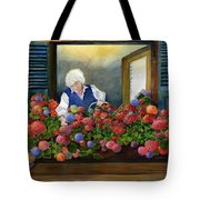 Mama's Window Garden Tote Bag