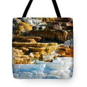 Mammoth Hot Springs Rock Formation No1 Tote Bag