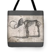 Mammoth Skeleton Tote Bag
