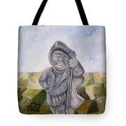 Man And Earth Tote Bag