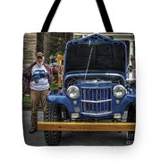 Man And His Jeep Tote Bag