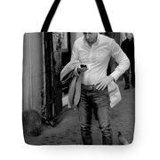Man And His Phone Tote Bag