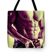 Man And Jeans Tote Bag