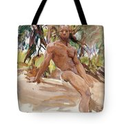 Man And Trees. Florida Tote Bag