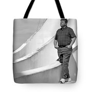 Man At Conrcete Structure Tote Bag