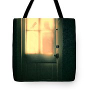 Man At Door With Cleaver Tote Bag