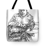 Man At The Bar Tote Bag