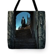 Man At The Top Of The Steps Tote Bag