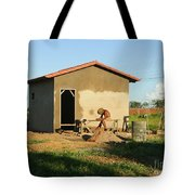 Man At Work Tote Bag