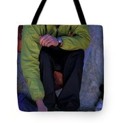 Man Eating Out Of A Small Bowl Tote Bag