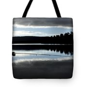 Man Fly Fishing Tote Bag