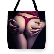 Man Hands On Sexy Woman Buttocks Tote Bag