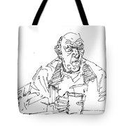 Man Having Coffee Tote Bag