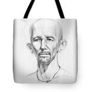 Man Head Study Tote Bag