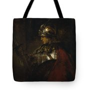 Man In Armor Tote Bag