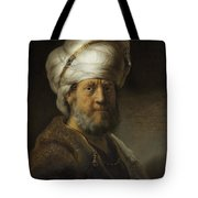 Man In Oriental Dress Tote Bag