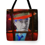 Man In Red Fedora Tote Bag