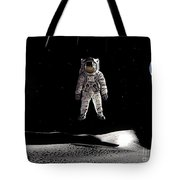 Man In Space Tote Bag