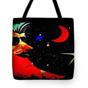 Man In The Moon Edited Tote Bag