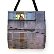 Man In The Window Tote Bag