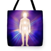 Man Luminous Ethereal Body Energy Emanations Concept Tote Bag