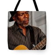 Man On Guitar Tote Bag