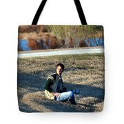 Man On The Hunt  Tote Bag
