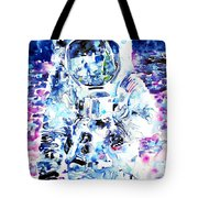 Man On The Moon - Watercolor Portrait Tote Bag