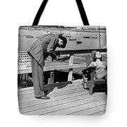 Man Photographs Sleeping Girl Tote Bag