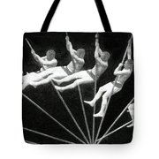 Man Pole Vaulting 1884 Tote Bag by Nypl