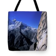 Man Rock Climbing Tote Bag