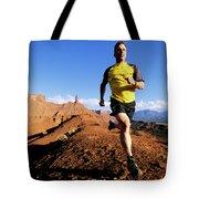 Man Running In Moab, Utah Tote Bag