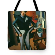 Man Standing At A Window Tote Bag