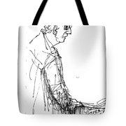 Man Standing Tote Bag