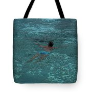 Man Swimming Tote Bag